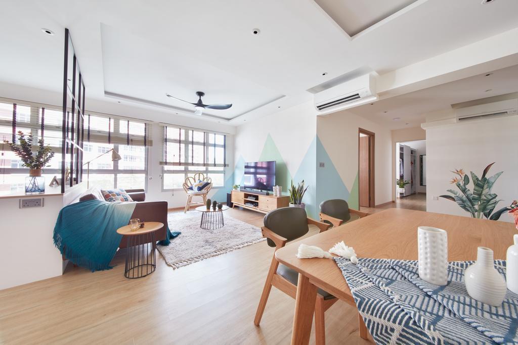 Scandinavian, HDB, Living Room, Bukit Batok West, Interior Designer, Free Space Intent