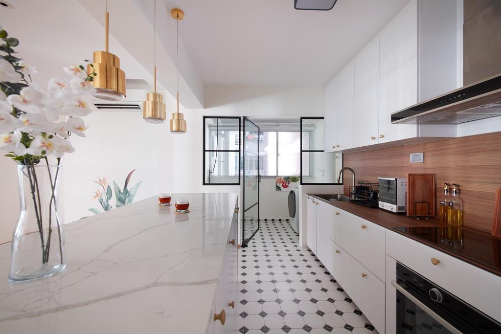 Scandinavian, HDB, Kitchen, Bukit Batok West, Interior Designer, Free Space Intent