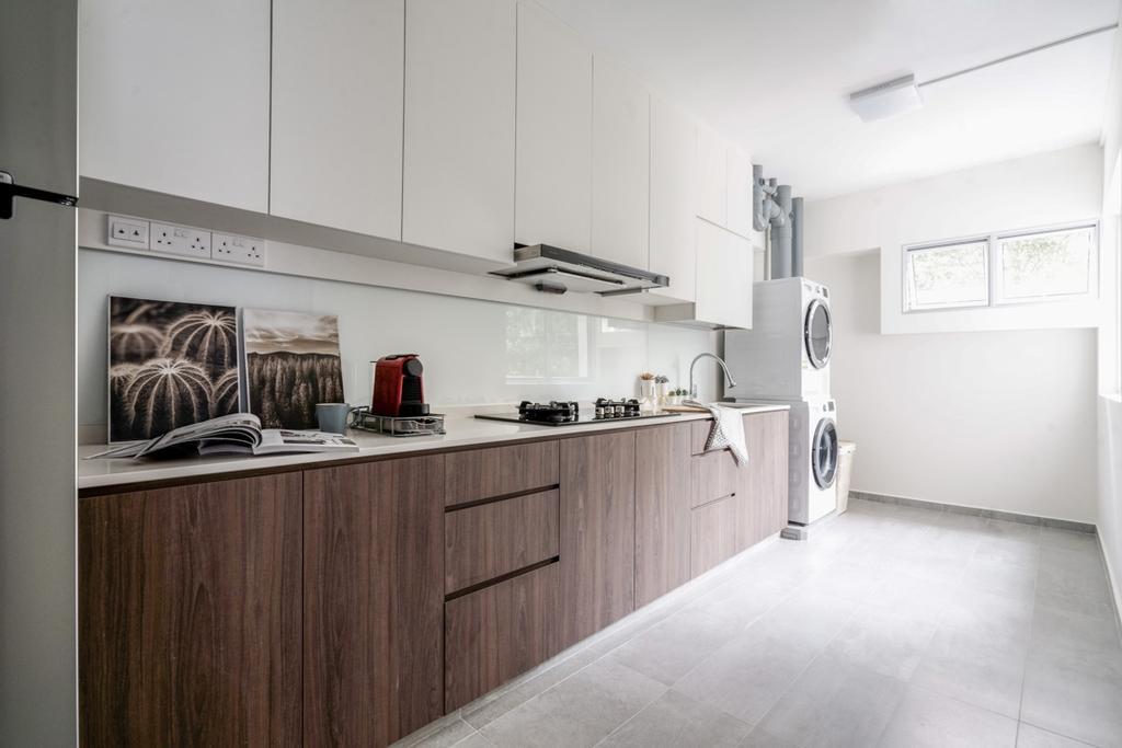 Contemporary, HDB, Kitchen, Strathmore Avenue, Interior Designer, Couple Abode, Scandinavian
