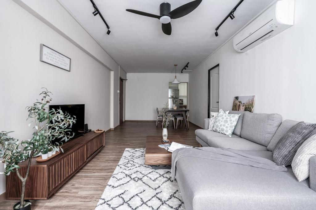 Contemporary, HDB, Living Room, Strathmore Avenue, Interior Designer, Couple Abode, Scandinavian