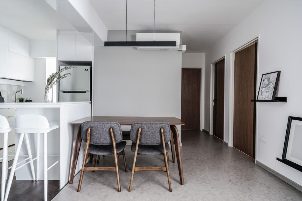 Contemporary, HDB, Dining Room, Punggol Bayview, Interior Designer, Couple Abode