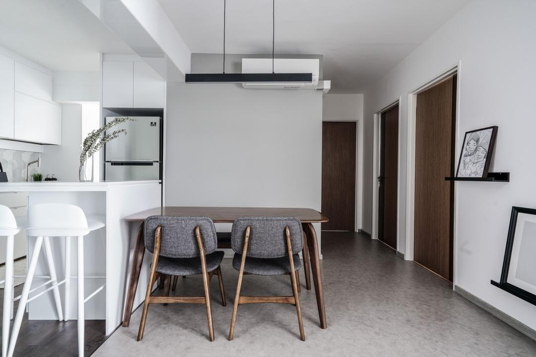 White-and-Wood Homes in Singapore Scandinavian Style