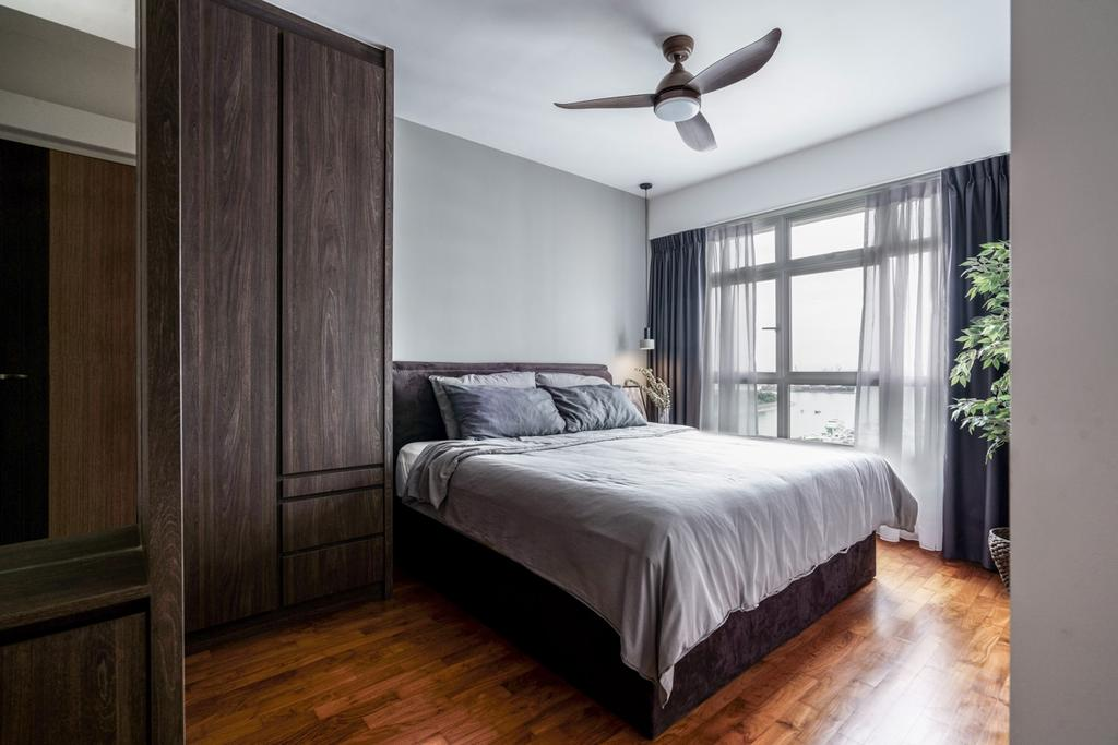 Contemporary, HDB, Bedroom, Punggol Bayview, Interior Designer, Couple Abode