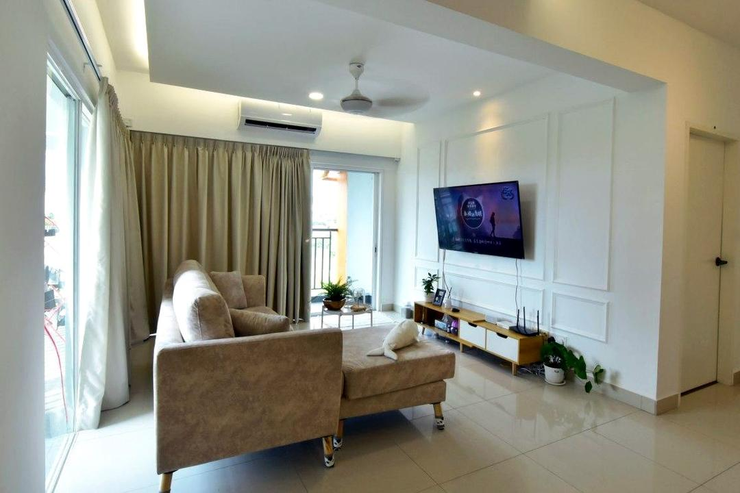 Puchong, Selangor, JRC ID CONTRACT, Living Room, Apartment