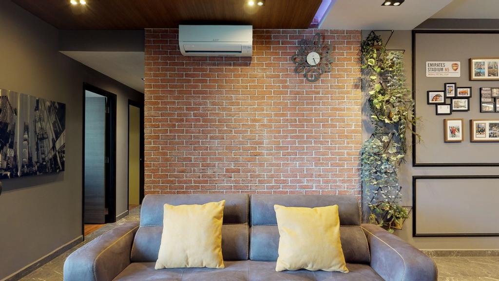 Modern, Condo, Living Room, The Emerald, Interior Designer, New Age Interior, Contemporary