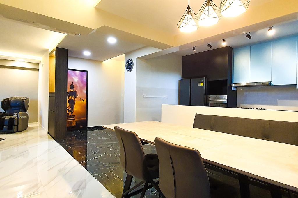 Contemporary, HDB, Dining Room, Tampines North Drive 1, Interior Designer, Conception Studio