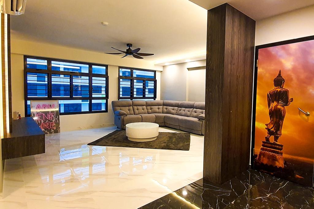 Contemporary, HDB, Living Room, Tampines North Drive 1, Interior Designer, Conception Studio