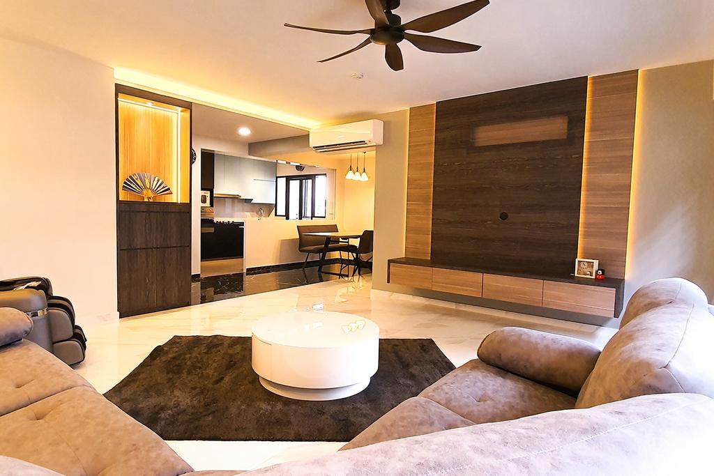 Contemporary, HDB, Living Room, Tampines North Drive 1, Interior Designer, Conception Studio