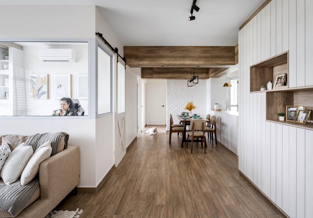 Traditional, HDB, Living Room, Anchorvale Lane, Interior Designer, Ethereall, Transitional