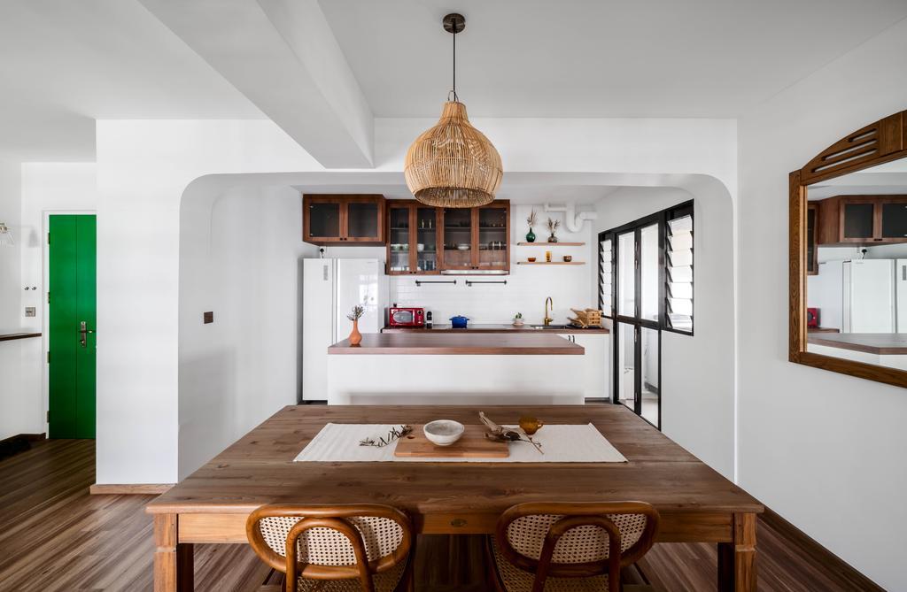 Retro, HDB, Dining Room, Tampines North Drive 1, Interior Designer, Ethereall