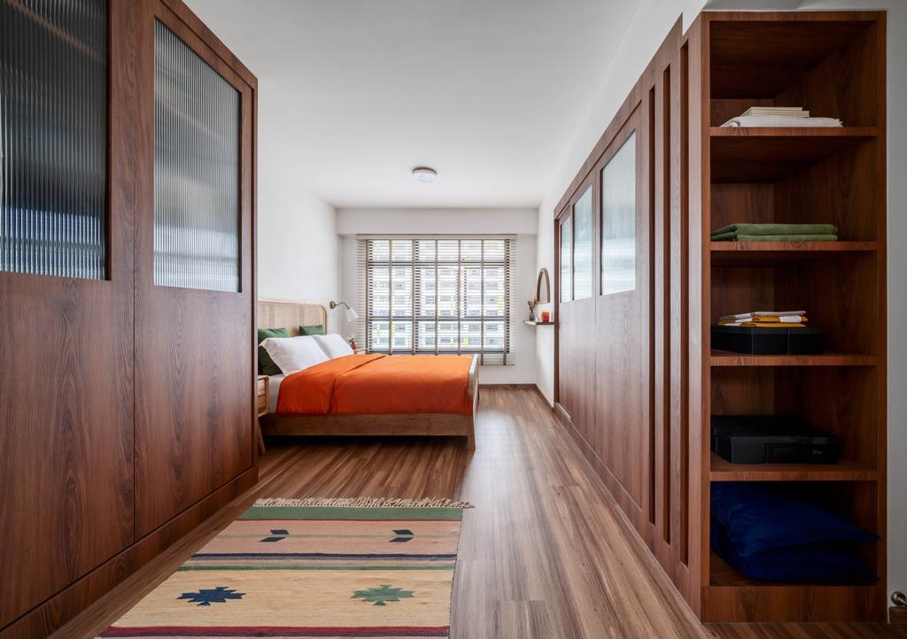 Retro, HDB, Bedroom, Tampines North Drive 1, Interior Designer, Ethereall, Wardrobe