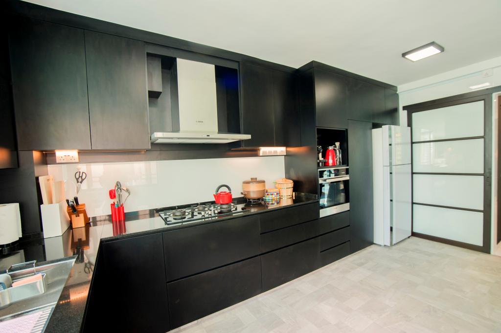 Modern, HDB, Kitchen, Hougang Street 51, Interior Designer, New Age Interior, Contemporary