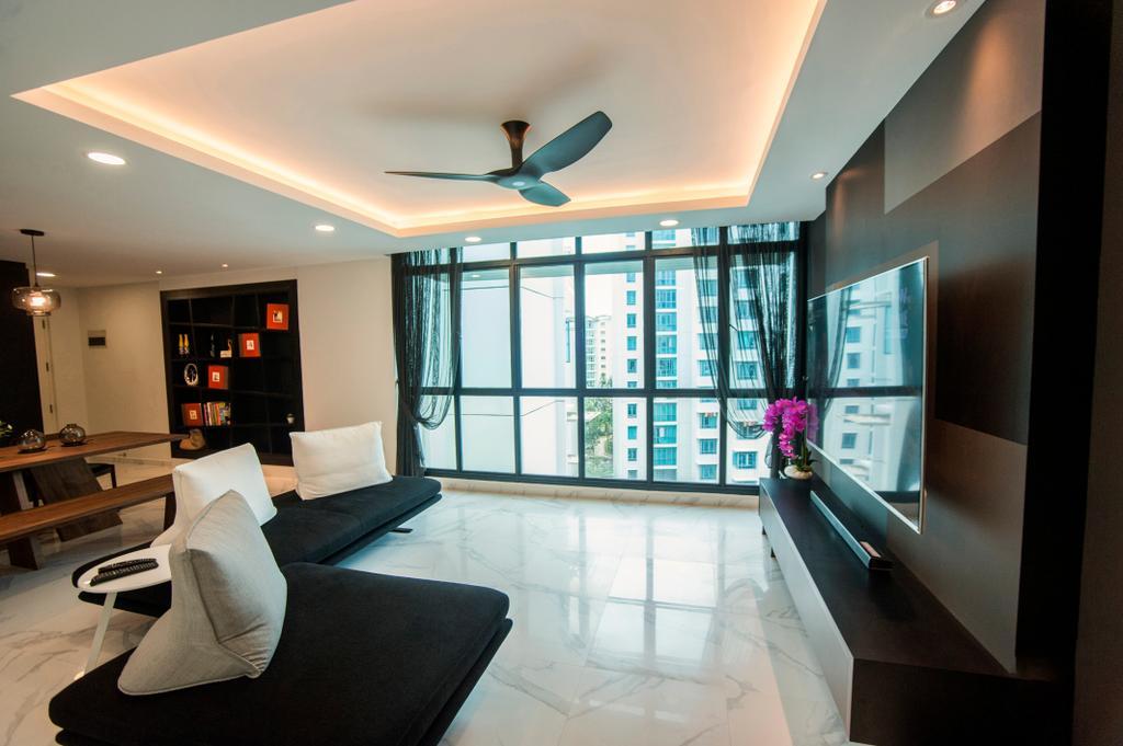 Modern, HDB, Living Room, Hougang Street 51, Interior Designer, New Age Interior, Contemporary