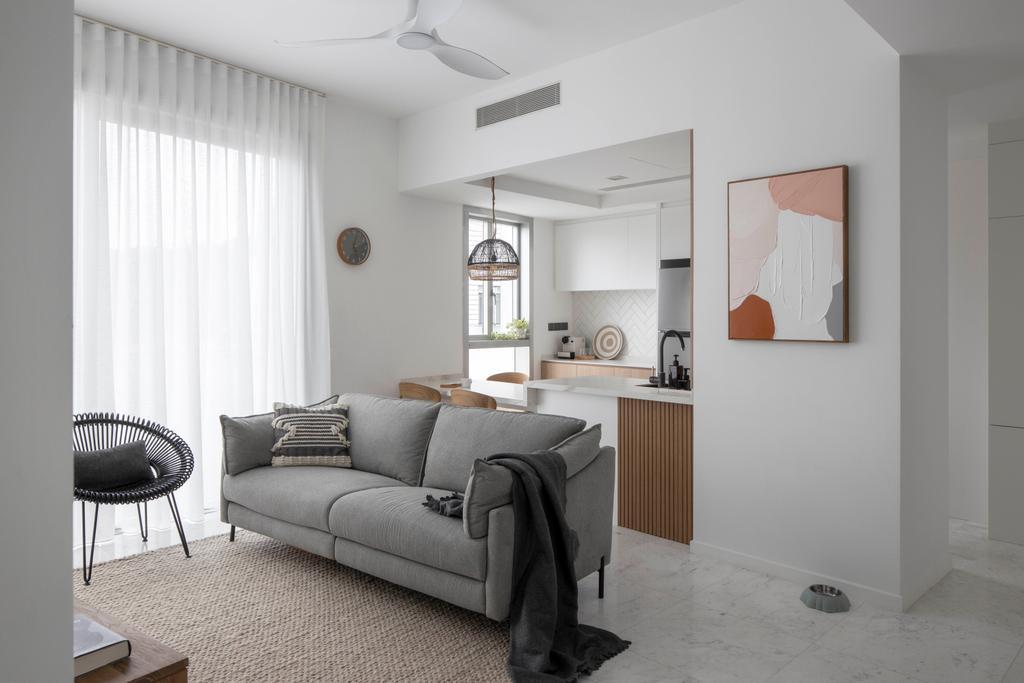 Modern, Condo, Living Room, Reflections at Keppel Bay, Interior Designer, Fifth Avenue Interior, Scandinavian