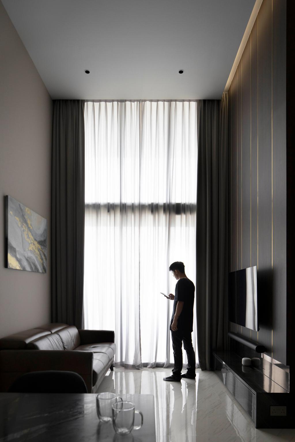 Contemporary, Condo, Living Room, Le Quest, Interior Designer, Fifth Avenue Interior, Monochrome