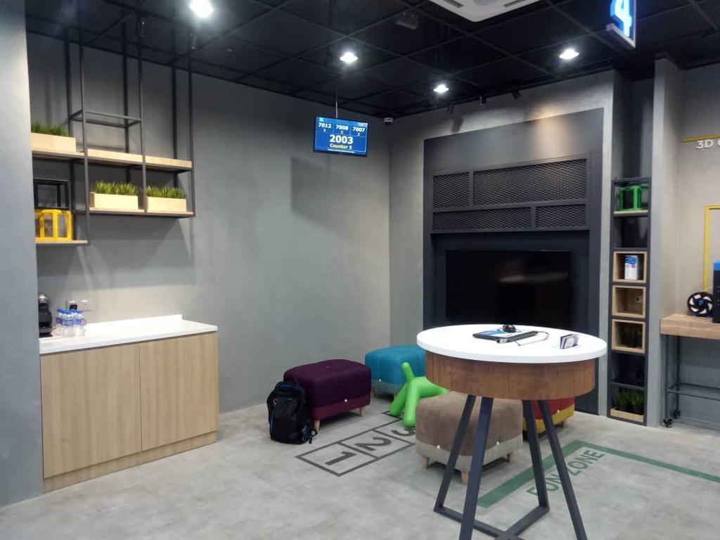 Celcom Bluecube, Tun Jugah Sarawak, Commercial, Interior Designer, KSJ Interiors & Reno Sdn Bhd, Modern, Industrial