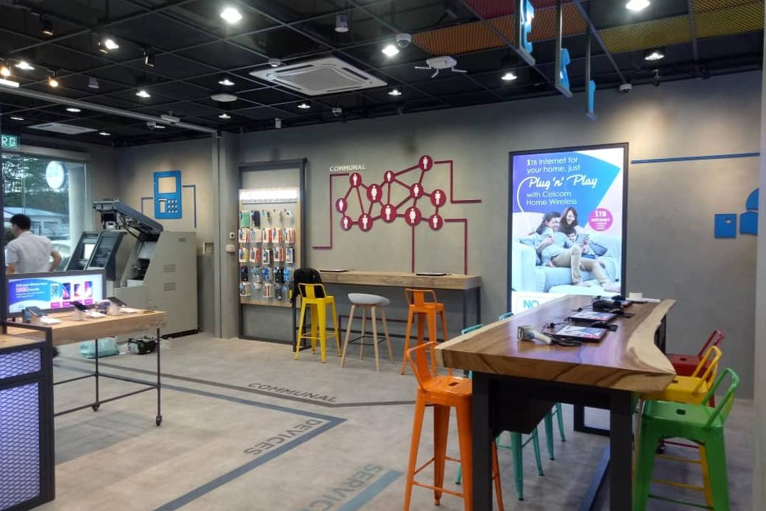 Celcom Bluecube, Tun Jugah Sarawak, KSJ Interiors & Reno Sdn Bhd, Modern, Industrial, Commercial