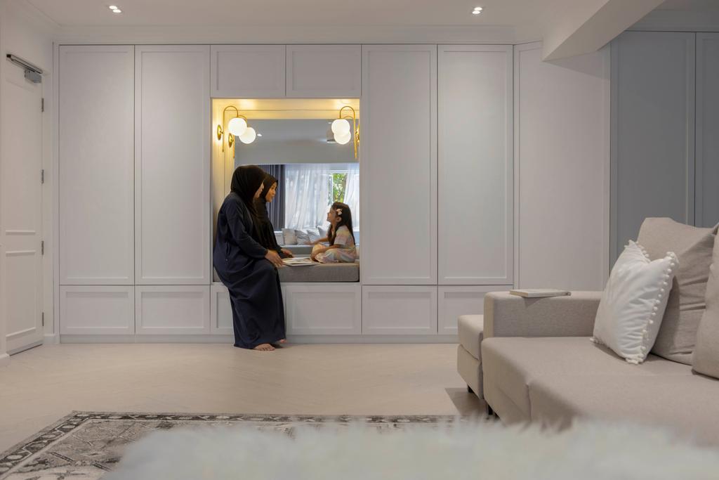Contemporary, HDB, Living Room, Tampines Street 32, Interior Designer, Fifth Avenue Interior, Shoe Cabinet, Shoe Settee, Entrance, Foyer