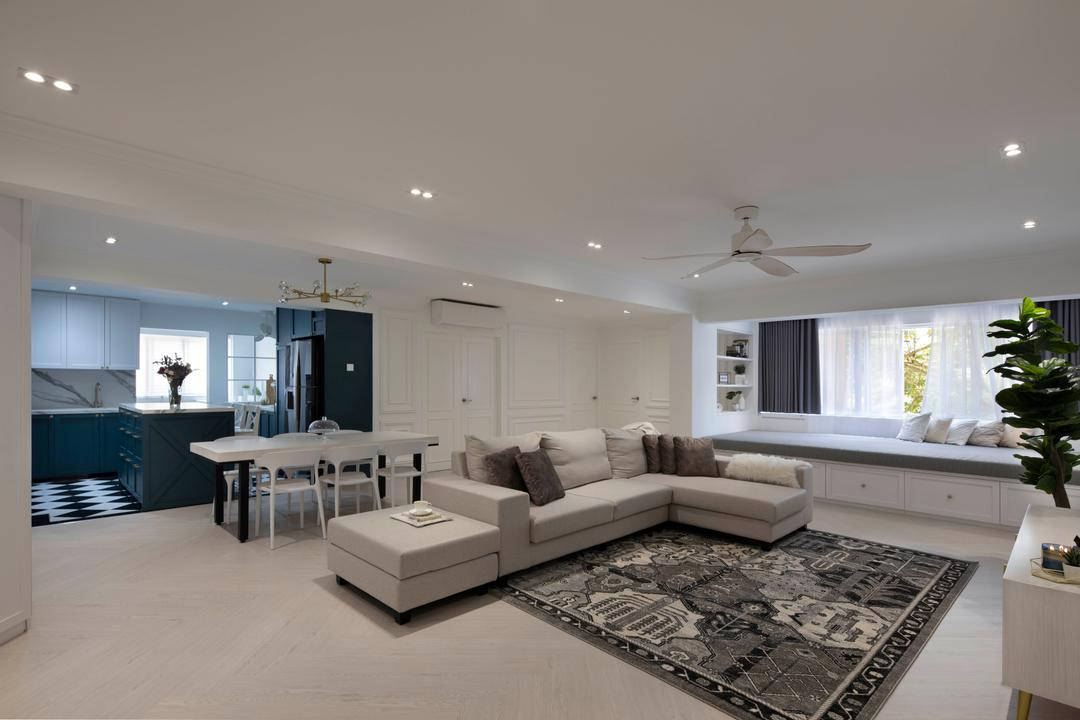 Tampines Street 32, Fifth Avenue Interior, Contemporary, Living Room, HDB, Open Layout, Open Concept