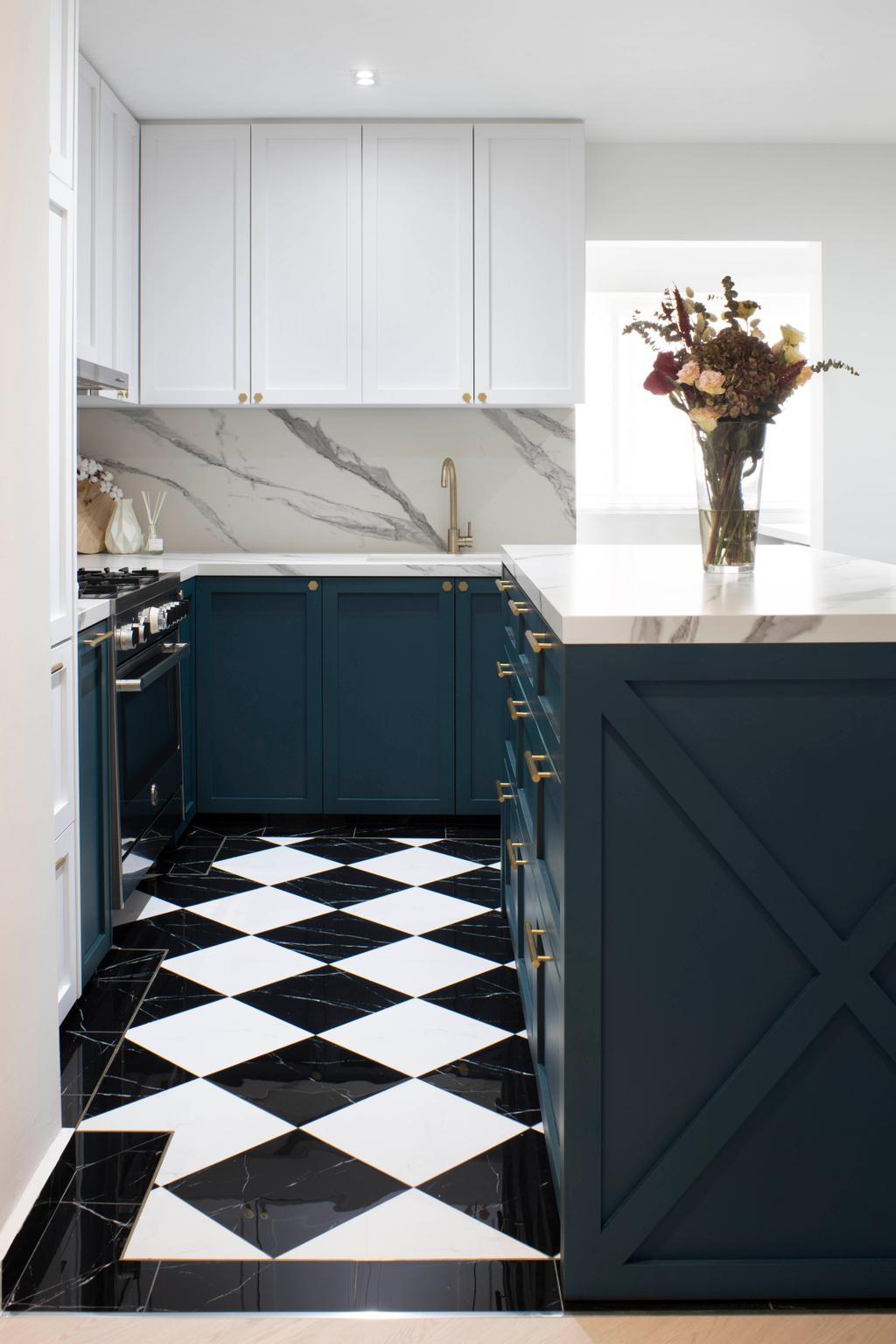Contemporary, HDB, Kitchen, Tampines Street 32, Interior Designer, Fifth Avenue Interior
