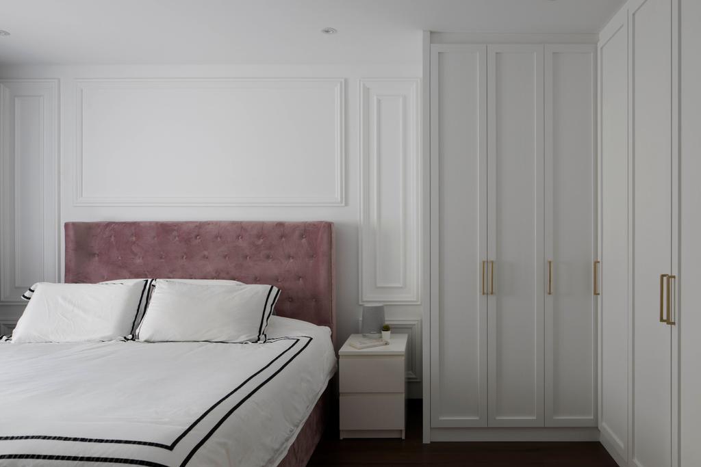 Contemporary, HDB, Bedroom, Tampines Street 32, Interior Designer, Fifth Avenue Interior, Wardrobe