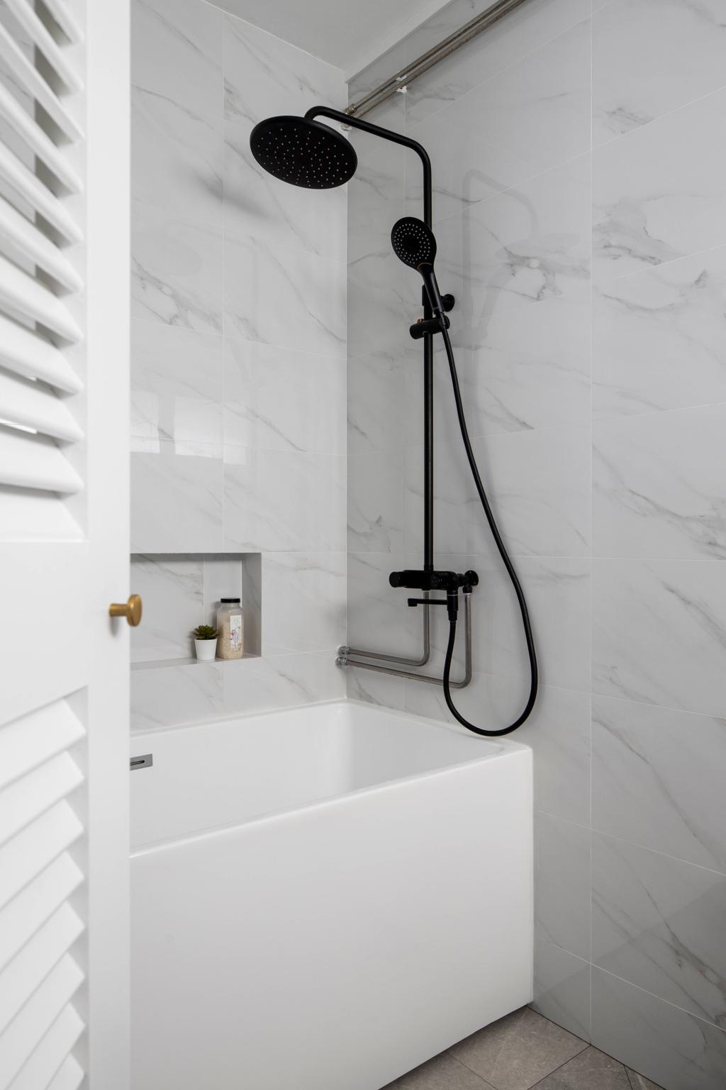 Contemporary, HDB, Bathroom, Tampines Street 32, Interior Designer, Fifth Avenue Interior