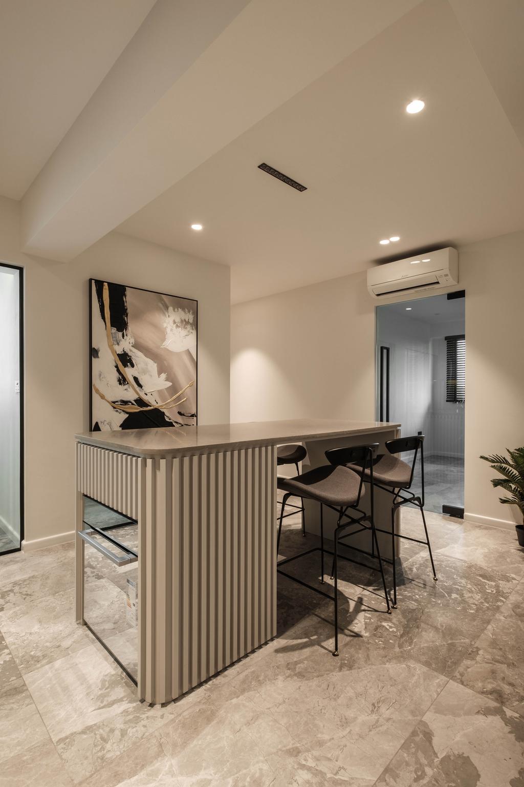 Modern, HDB, Dining Room, Sumang Lane, Interior Designer, HOFT, Contemporary, Kitchen Island, Open Kitchen