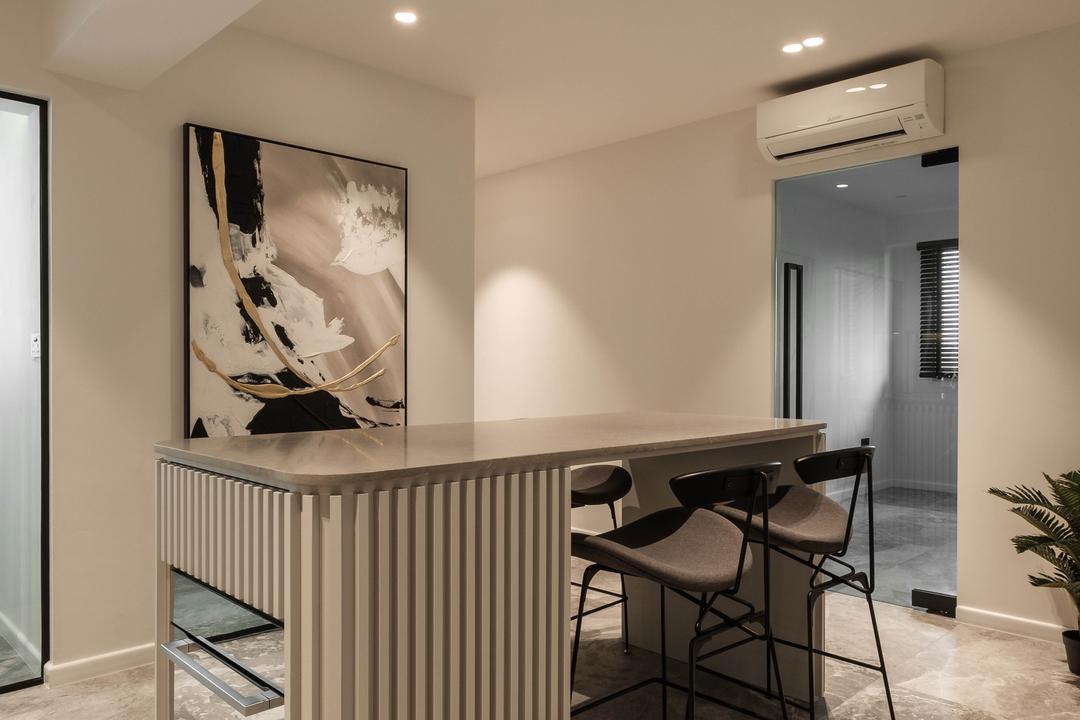 Sumang Lane, HOFT, Modern, Contemporary, Dining Room, HDB, Kitchen Island, Open Kitchen