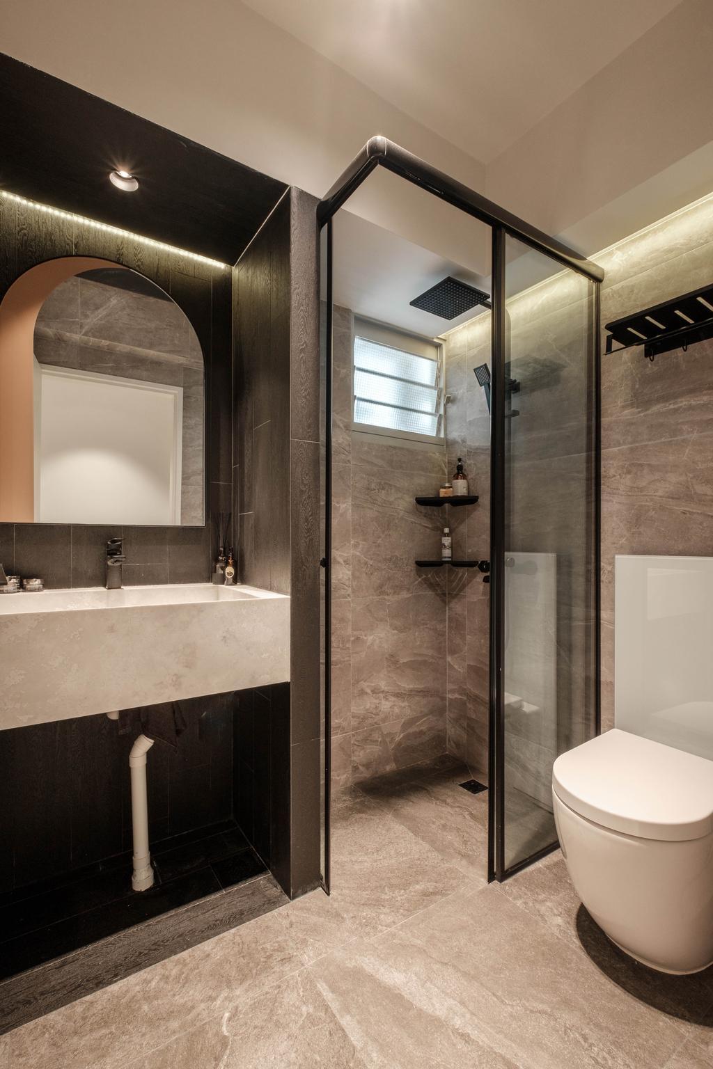 Modern, HDB, Bathroom, Sumang Lane, Interior Designer, HOFT, Contemporary