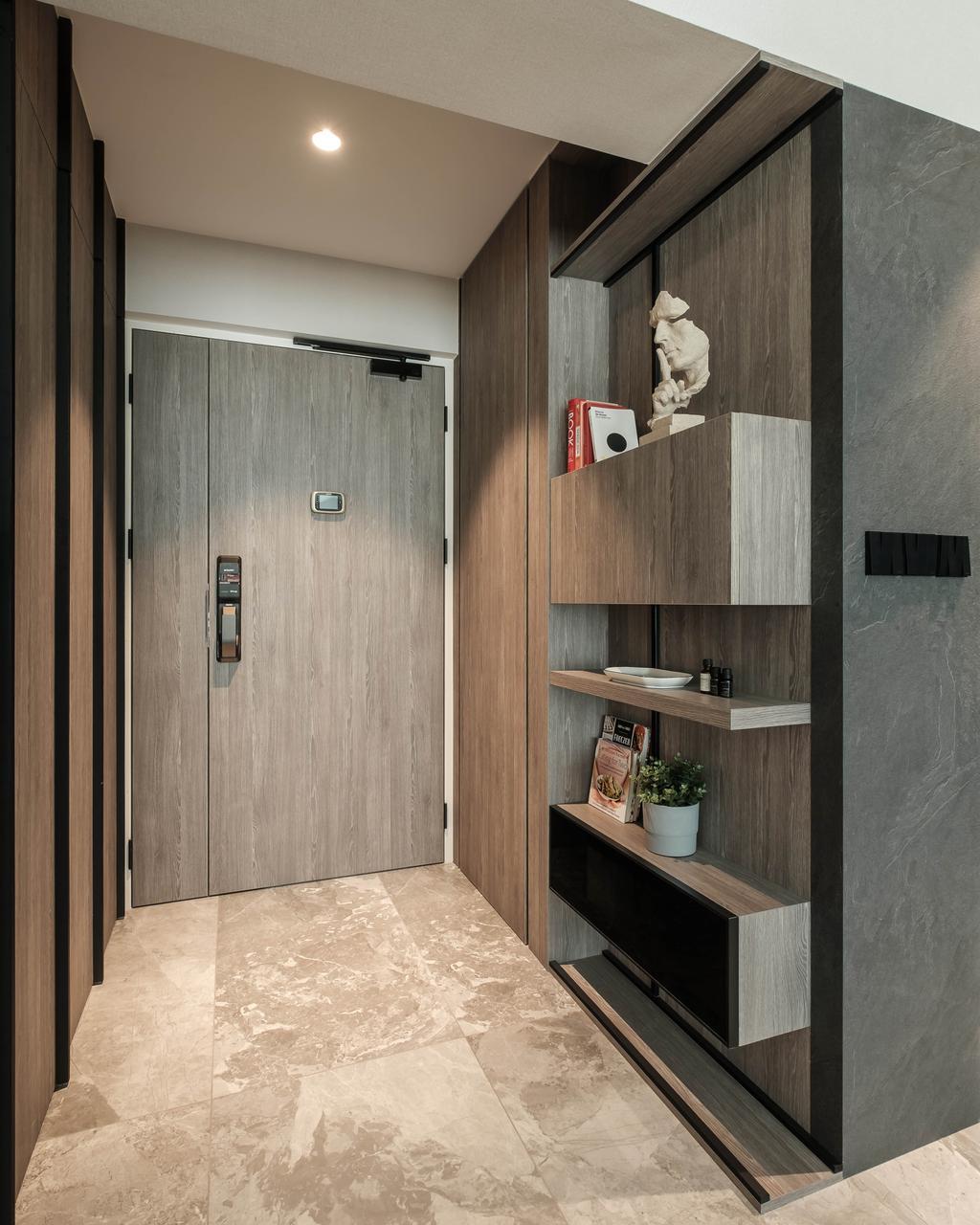 Modern, HDB, Living Room, Sumang Lane, Interior Designer, HOFT, Contemporary, Shoe Cabinet, Entrance, Foyer, Shoe Storage