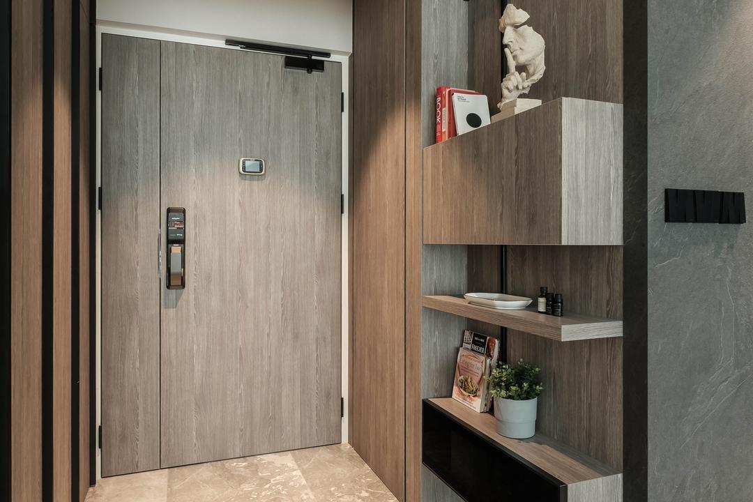 Sumang Lane, HOFT, Modern, Contemporary, Living Room, HDB, Shoe Cabinet, Entrance, Foyer, Shoe Storage