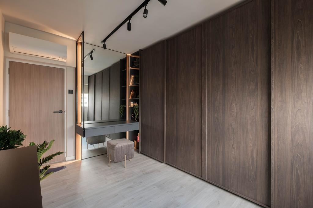 Scandinavian, HDB, Bedroom, Ang Mo Kio Avenue 10, Interior Designer, HOFT, Vanity, Walk In Wardrobe, Wardrobe
