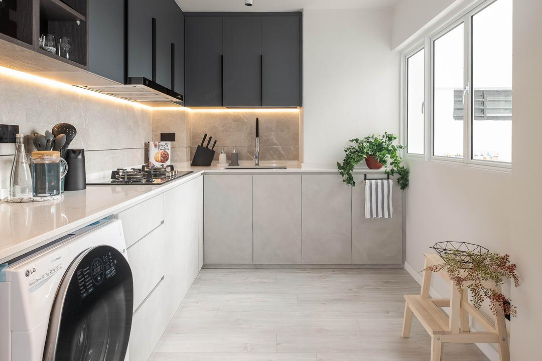 Ang Mo Kio Avenue 10, HOFT, Scandinavian, Kitchen, HDB, Yard