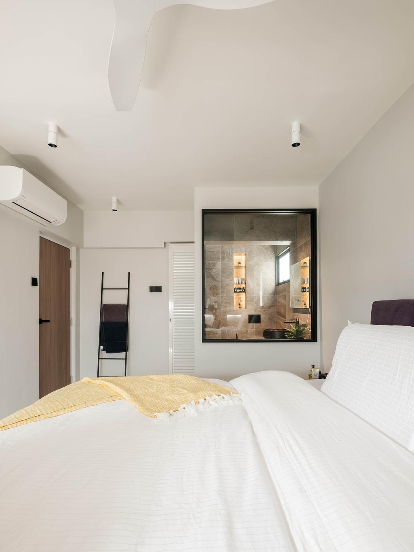 Scandinavian, HDB, Bedroom, Ang Mo Kio Avenue 10, Interior Designer, HOFT, Open Bathroom