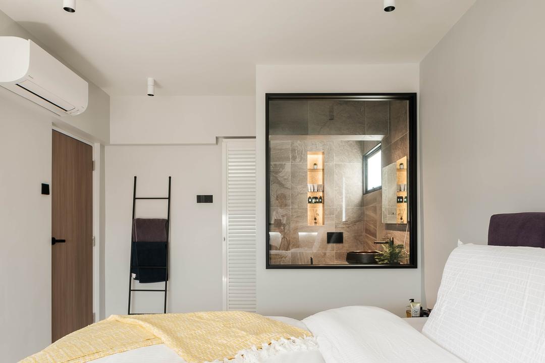 Ang Mo Kio Avenue 10, HOFT, Scandinavian, Bedroom, HDB, Open Bathroom