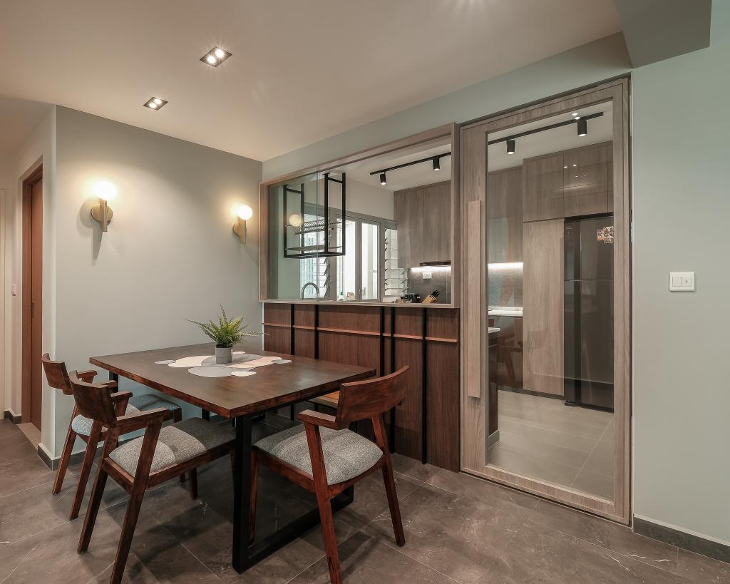 Contemporary, HDB, Dining Room, Bidadari Park Drive, Interior Designer, HOFT