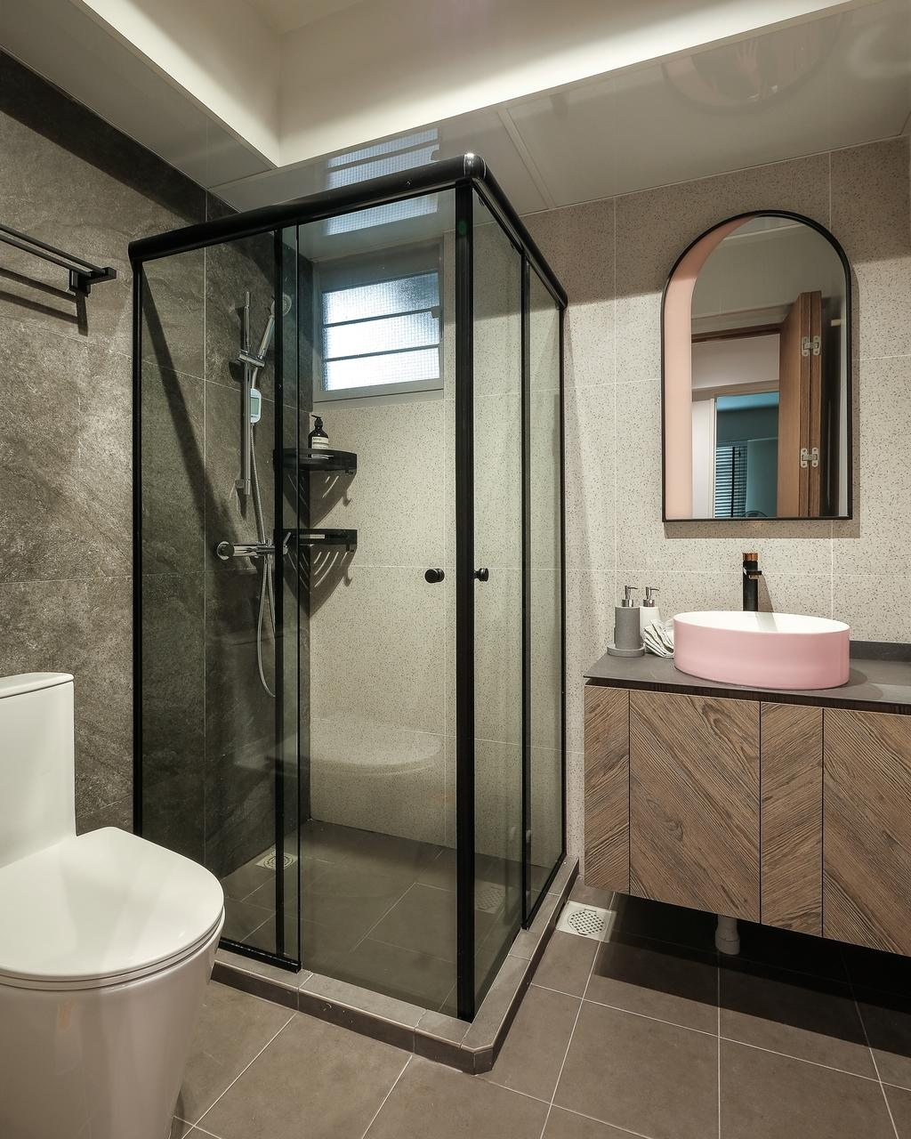 Contemporary, HDB, Bathroom, Bidadari Park Drive, Interior Designer, HOFT