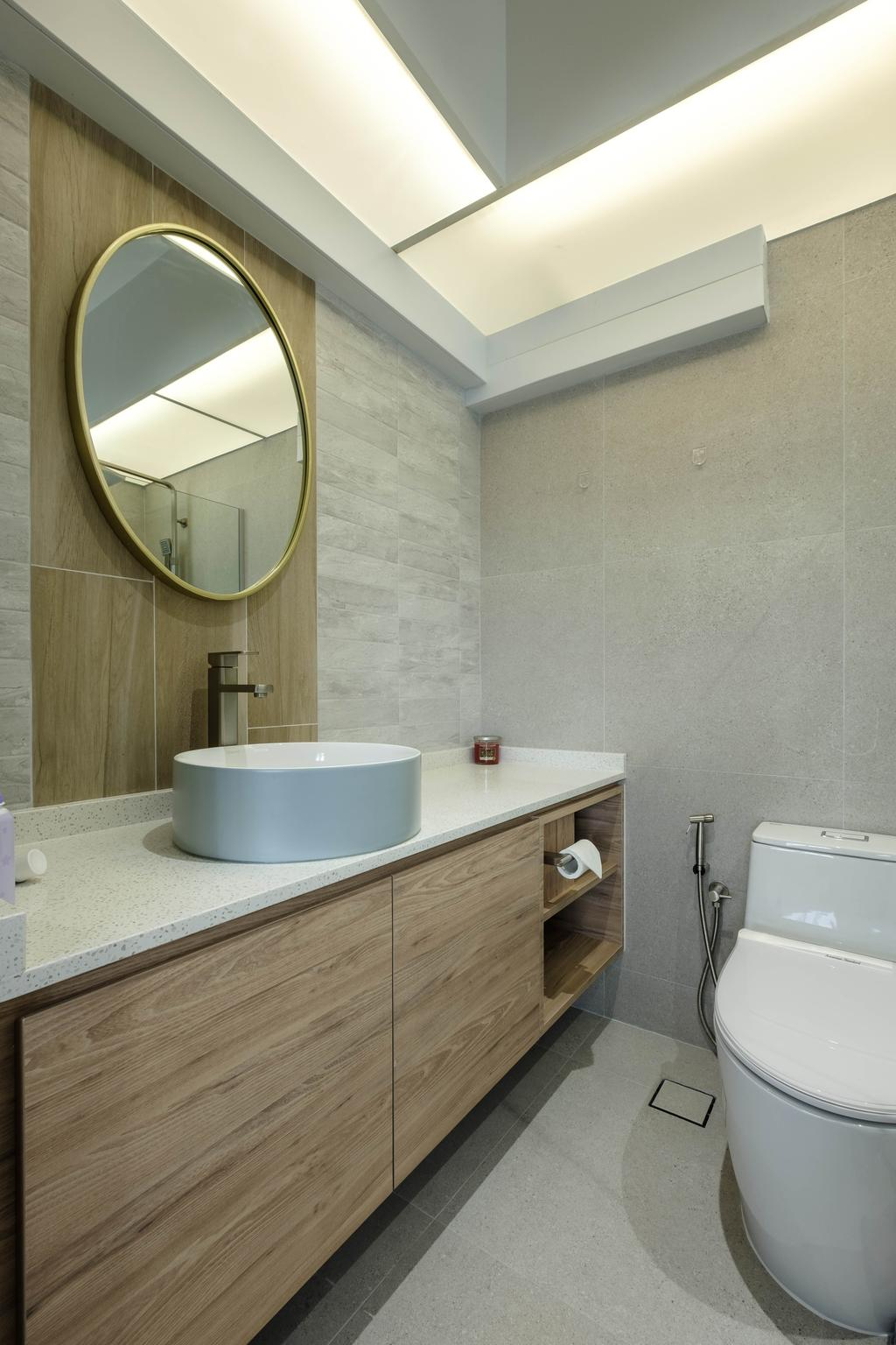 Modern, HDB, Bathroom, Sengkang West Way, Interior Designer, HOFT