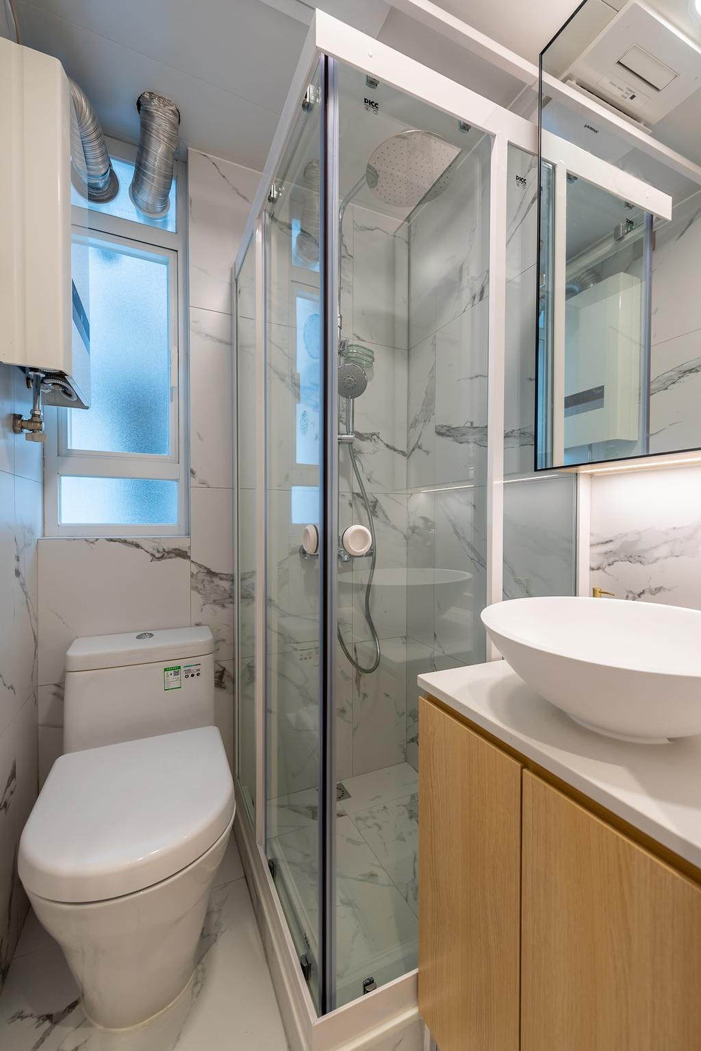 簡約, 私家樓, 浴室, 華寶大廈, 室內設計師, Deco Farmer Studio
