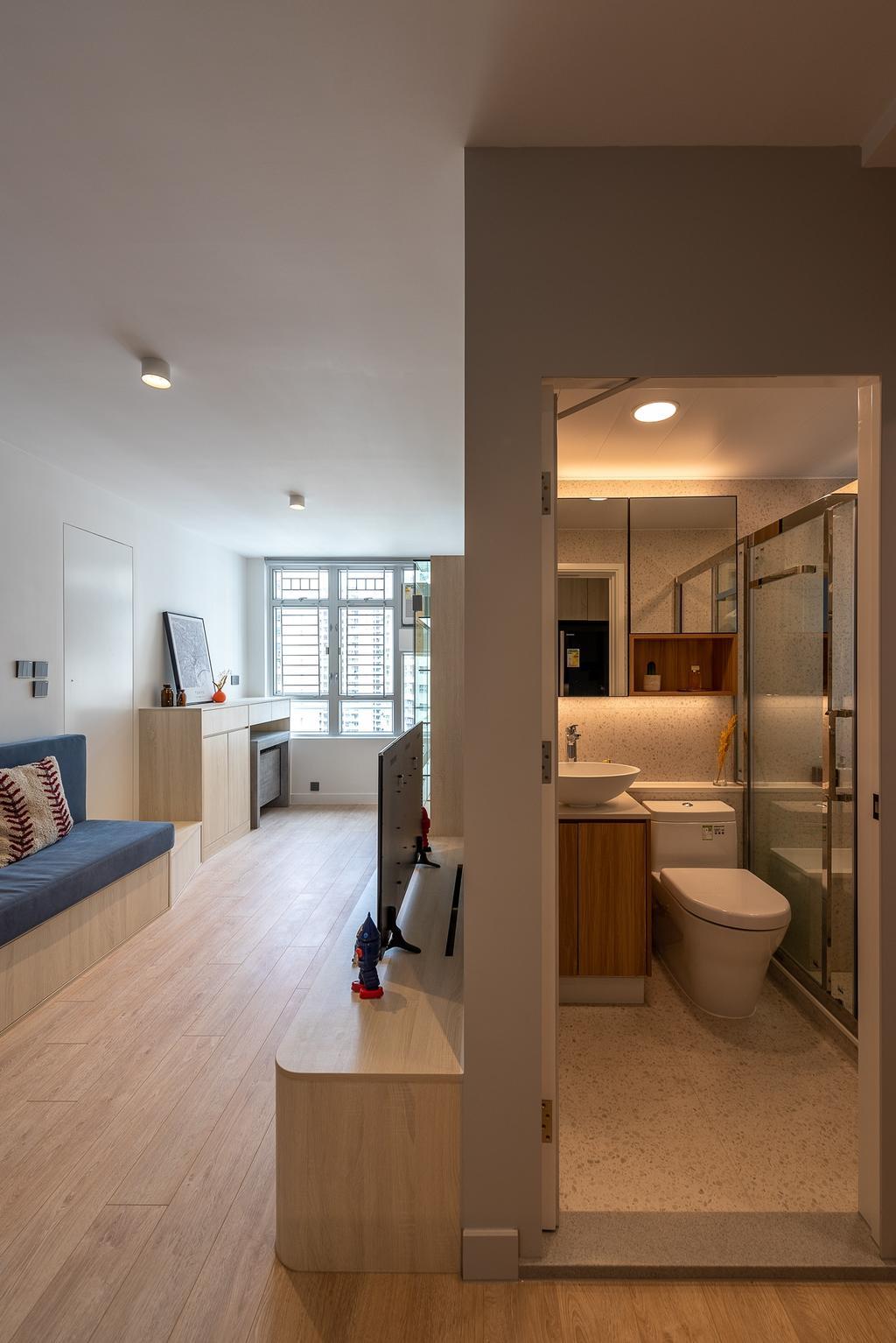 簡約, 公屋/居屋, 客廳, 冠德苑, 室內設計師, Deco Farmer Studio