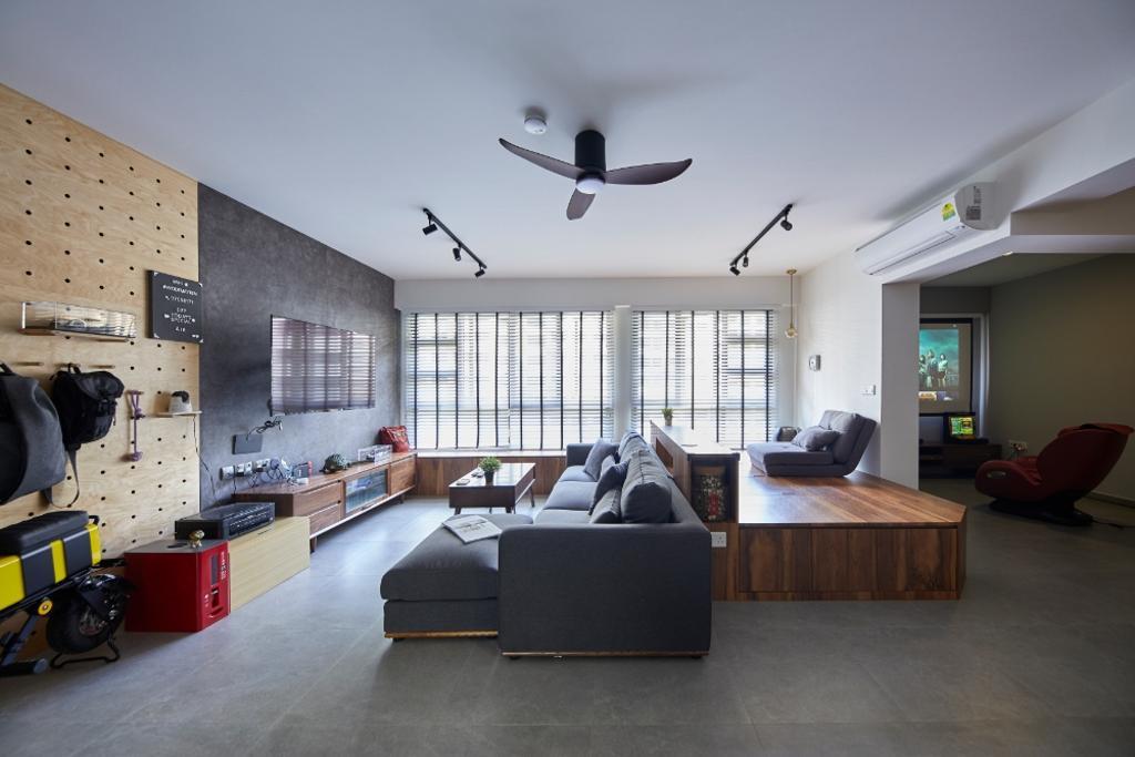Contemporary, HDB, Living Room, Bukit Batok Street 41, Interior Designer, Carpenters 匠, Scandinavian