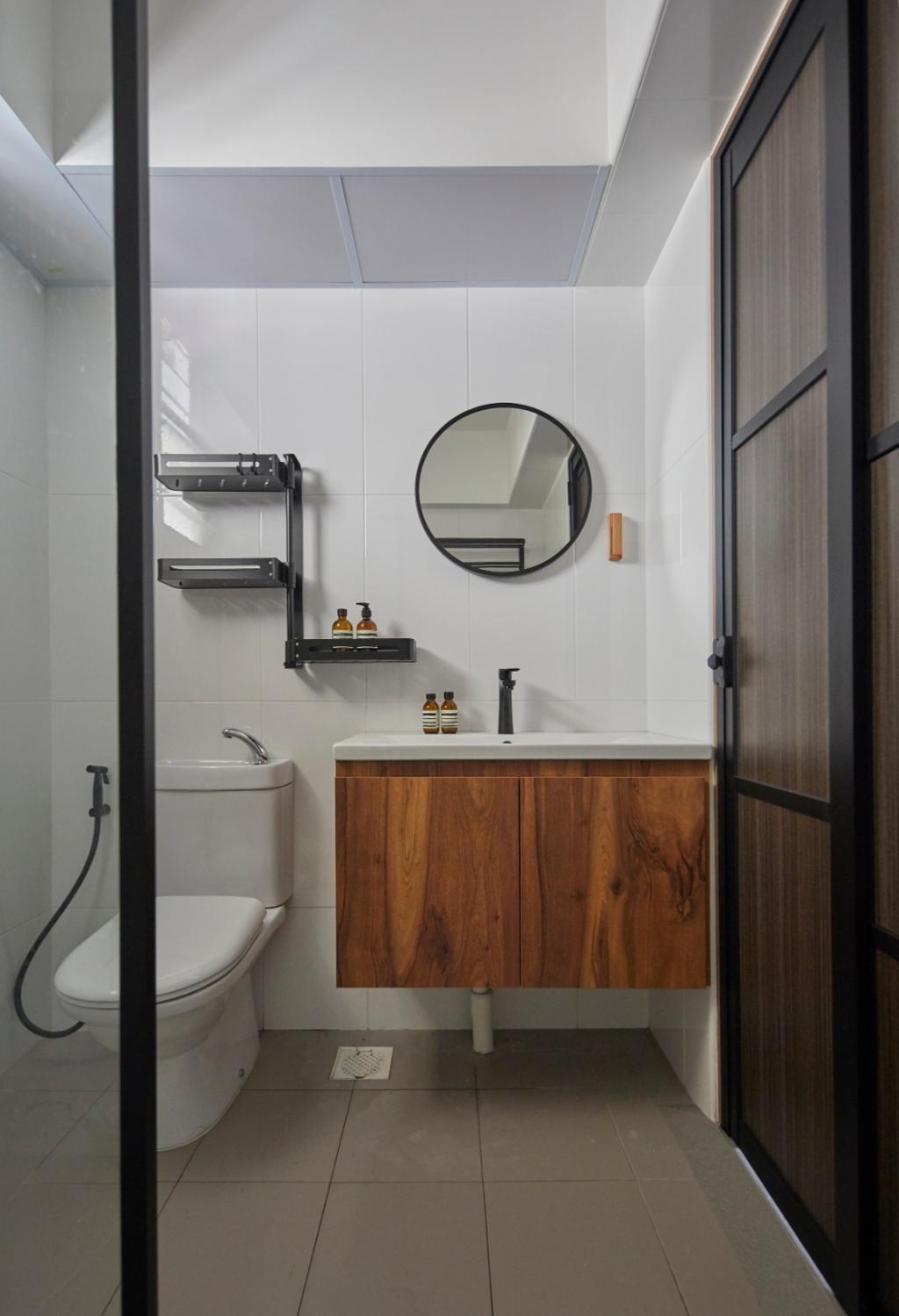 Contemporary, HDB, Bathroom, Bukit Batok Street 41, Interior Designer, Carpenters 匠, Scandinavian