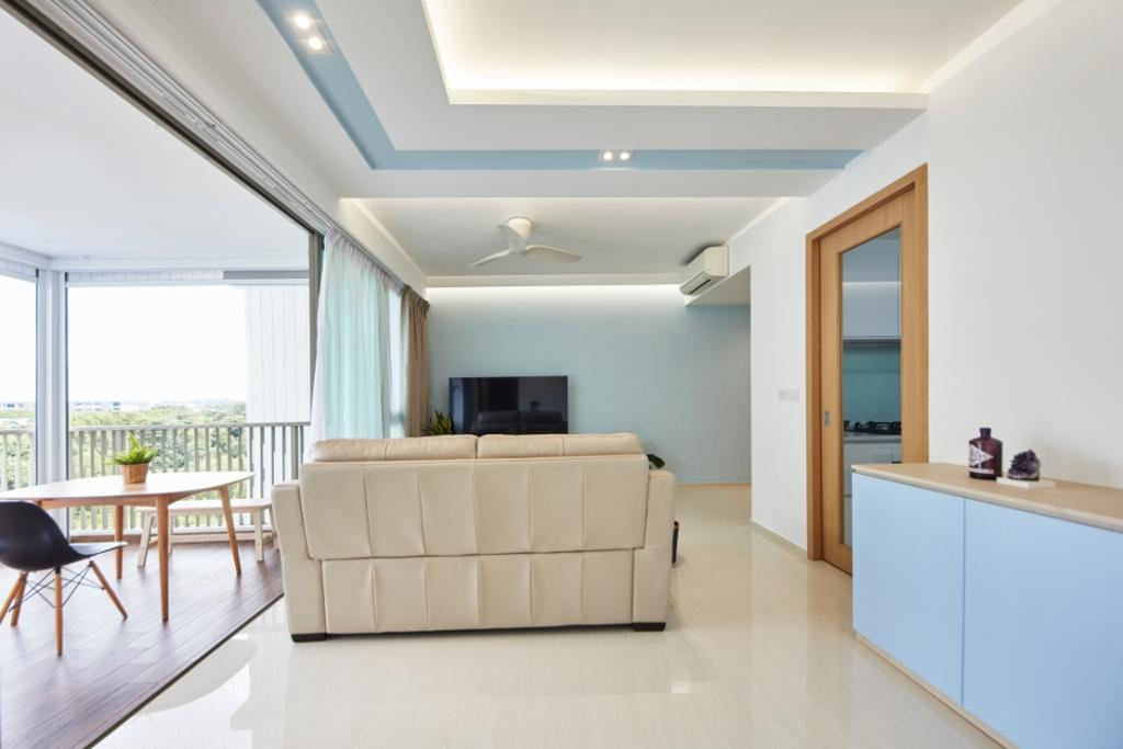 Modern, Condo, Living Room, Ripple Bay, Interior Designer, Carpenters 匠