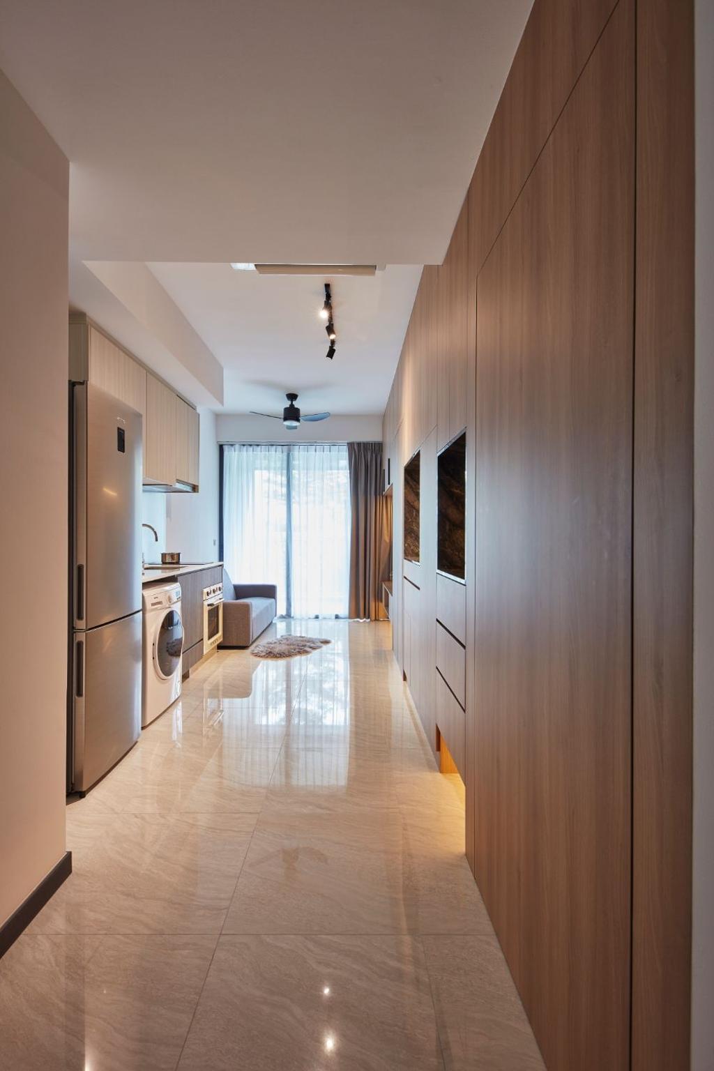 Contemporary, Condo, Living Room, Gem Residences, Interior Designer, Carpenters 匠