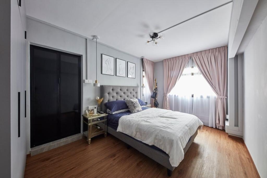 Contemporary, HDB, Bedroom, Hougang Street 31, Interior Designer, Carpenters 匠