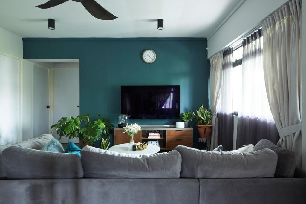 Contemporary, HDB, Living Room, Hougang Street 31, Interior Designer, Carpenters 匠