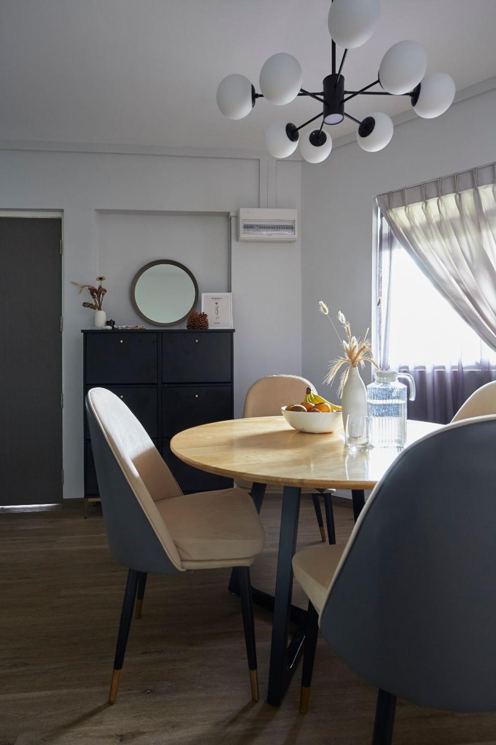 Contemporary, HDB, Dining Room, Hougang Street 31, Interior Designer, Carpenters 匠