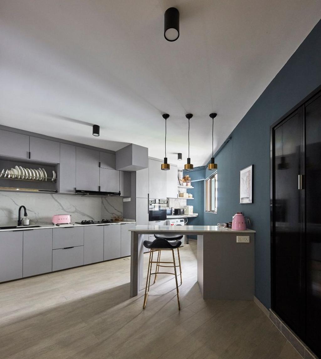Contemporary, HDB, Kitchen, Hougang Street 31, Interior Designer, Carpenters 匠