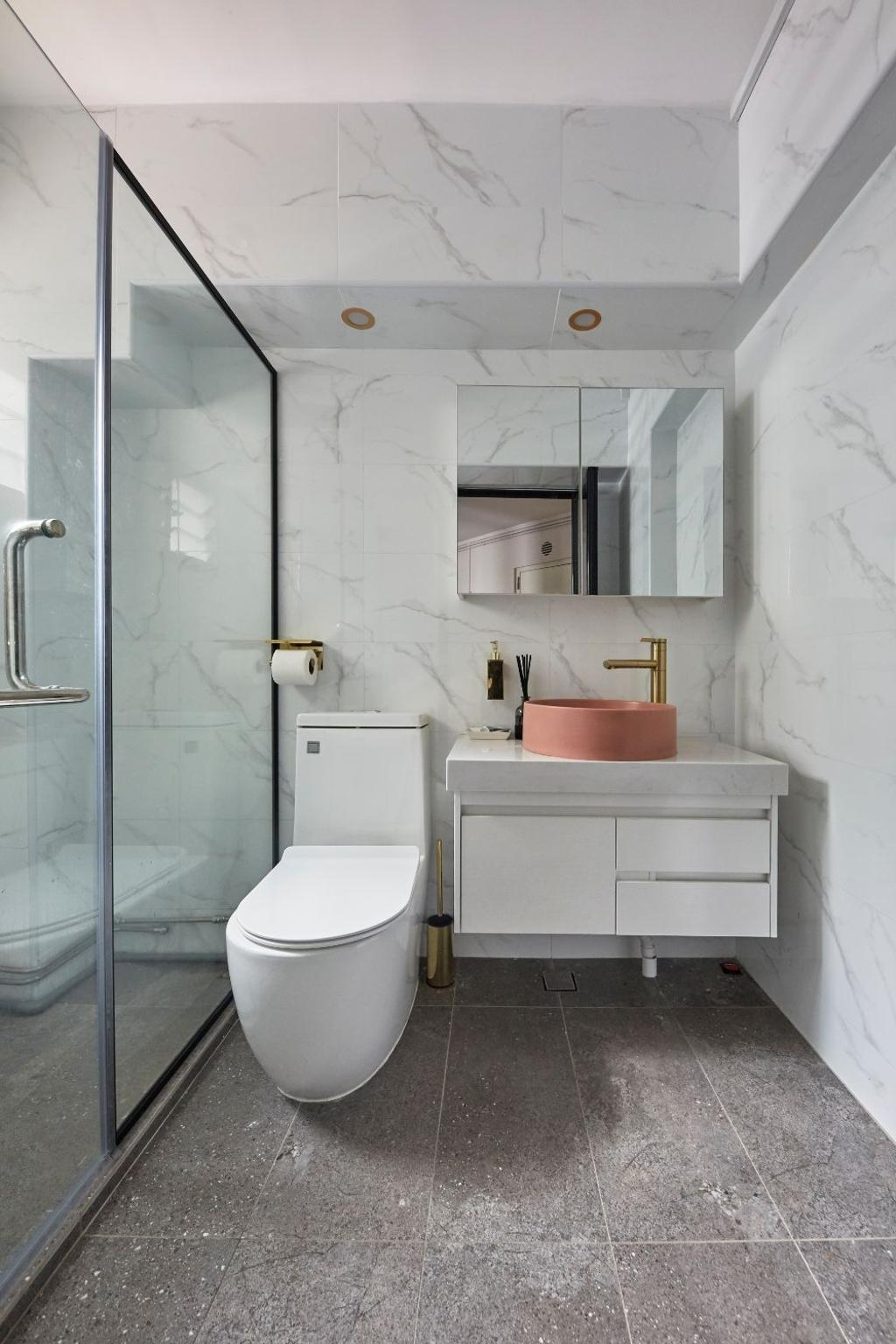 Contemporary, HDB, Bathroom, Hougang Street 31, Interior Designer, Carpenters 匠