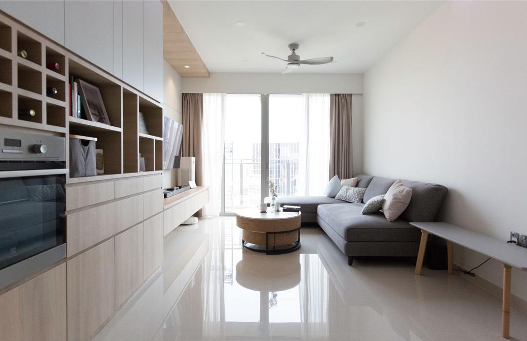 Scandinavian, Condo, Living Room, Bartley Residences, Interior Designer, Carpenters 匠